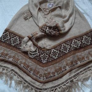 Alpasur cape poncho alpaca wool